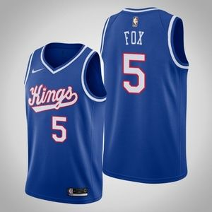 Kings #5 De'Aaron Fox basketball jersey